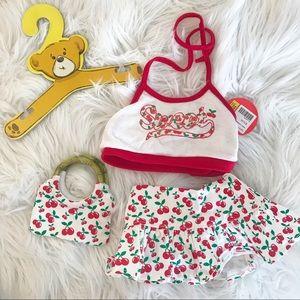 Build A Bear Cherries Cherry Sweet Skirt outfit